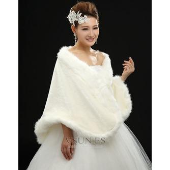 Chal de boda Glamouroso Broche de cristal Sin mangas Otoño - Página 2