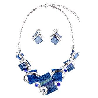 Flores cristal caliente collar y colgante de plata de la venta de mujeres - Página 2