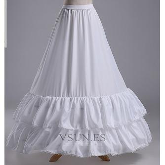 Ajuste del cordón de la sirena dos llantas moda poliéster tafetán boda enagua - Página 2
