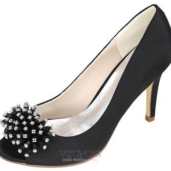 Zapatos de boda para mujer, boca baja, cabeza de pez, tacones altos, diamantes de imitación, zapatos individuales, sandalias de vestido de banquete de dama de honor - Página 3
