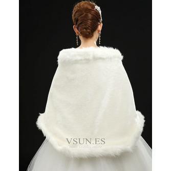 Chal de boda Glamouroso Broche de cristal Sin mangas Otoño - Página 3
