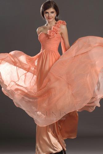 Vestido de noche Elegante Cremallera Gasa Hasta el suelo Flores Blusa plisada - Página 3