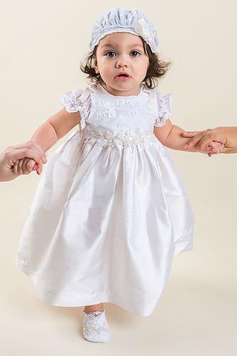 Vestido de Bautizo Corte princesa Alto cubierto Joya Hasta el Tobillo - Página 2