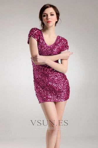 Vestido de fiesta sexy Corte Recto Cremallera Estrellado Camiseta Falta - Página 5
