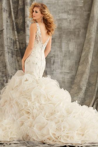 Vestido de novia Corte Sirena primavera Moderno Espalda medio descubierto - Página 2