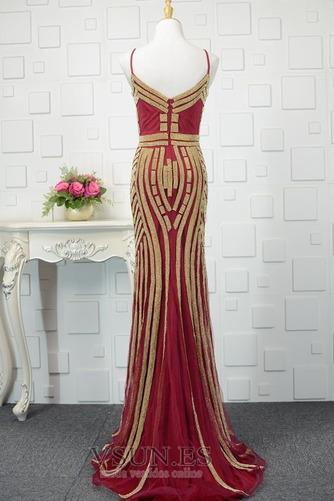 Vestido de noche Colores Escote de Tirantes Espaguetis Espalda medio descubierto - Página 6