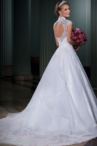 Vestido de novia Clasicos Abalorio Natural Queen Anne Otoño tul - Página 1