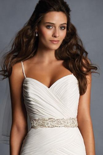 Vestido de novia Sin mangas Espalda medio descubierto Cinturón de cuentas - Página 3