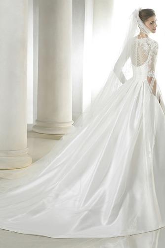 Vestido de novia Mangas Illusion Escote Cuadrado Sala Alto cubierto - Página 2