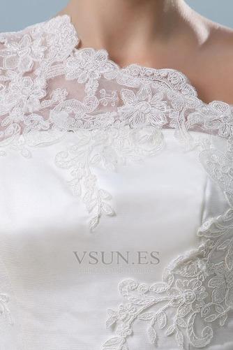 Vestido de novia Recatada Manzana Marfil Cremallera Un sólo hombro Sin mangas - Página 6