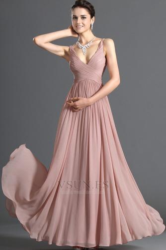 Vestido de noche Blusa plisada Plisado Cremallera Corte-A Sin mangas - Página 1