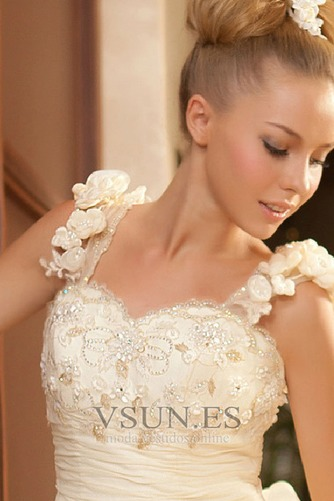 Vestido de novia Abalorio Sin mangas Tiras anchas Alto Bajo Cremallera - Página 3