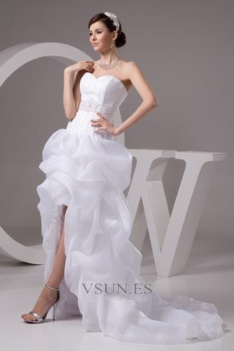 Vestido de novia Playa Falta Cintura Baja Asimètrico Espalda Descubierta - Página 4