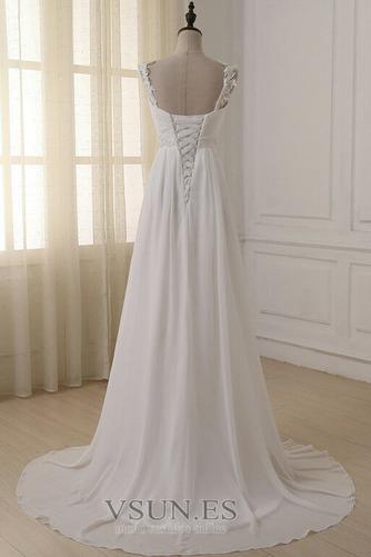 Vestido de novia Elegante Espalda Descubierta Sin mangas Plisado Fuera de casa - Página 4