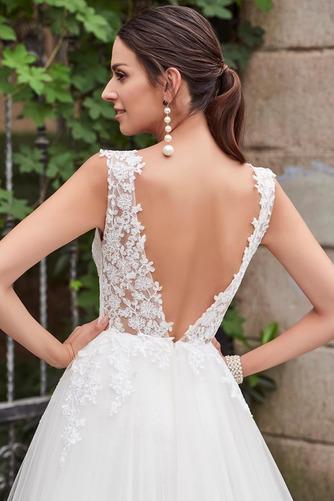 Vestido de novia Espalda Descubierta Drapeado sexy Sin mangas Corte Recto - Página 6