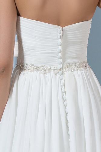 Vestido de novia Drapeado Sencillo Playa Gasa Natural Cinturón de cuentas - Página 4