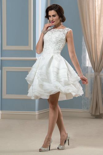 Vestido de novia Informal Verano Corte-A Oscilación Pura espalda Organza - Página 2