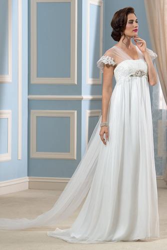 Vestido de novia Playa Manga corta Gasa Espalda Descubierta Abalorio - Página 2
