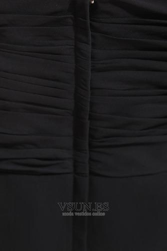 Vestido de noche Sin mangas Falta Escote de Tirantes Espaguetis Espalda Descubierta - Página 6