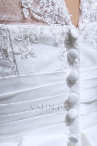 Vestido de novia Capa de Corpiño Cremallera Botón Falta Fuera de casa - Página 7