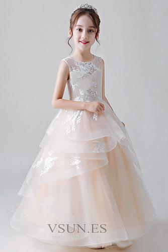 Vestido niña ceremonia Joya primavera Natural Hasta el Tobillo Cordón Falta - Página 3