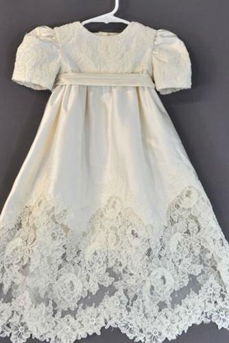Vestido de Bautizo Imperio Cintura Alto cubierto Formal Joya Corte princesa - Página 1