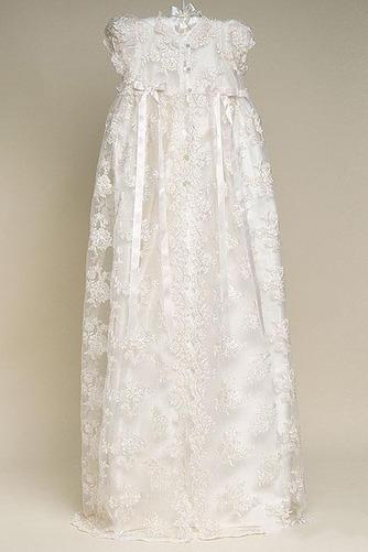 Vestido de Bautizo Joya Corte princesa Cola Barriba Recatada Imperio Cintura - Página 3