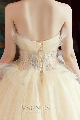Vestido de novia Sin mangas primavera Corte-A Hasta el suelo tul Apliques - Página 5
