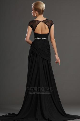 Vestidos de fiesta negros Espalda con ojo de cerradura Natural Transparente - Página 4