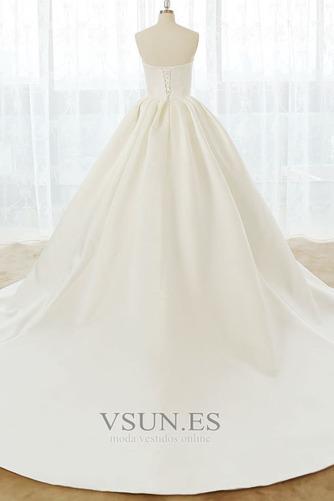 Vestido de novia Tallas grandes Cordón Natural Escote Corazón Otoño - Página 3