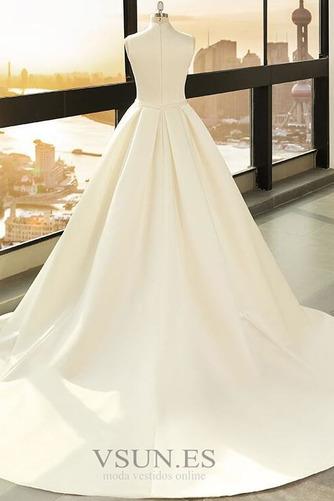 Vestido de novia Playa Escote en V Arco Acentuado Corte-A Cremallera - Página 2