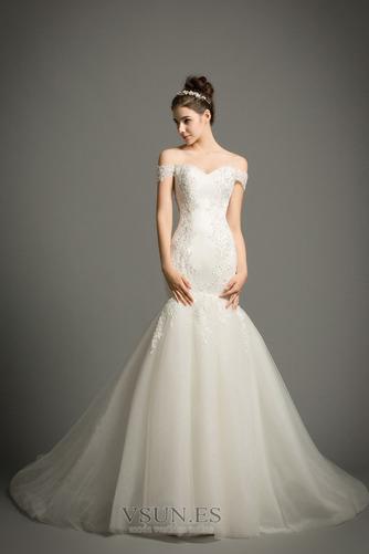 Vestido de novia Corte Sirena tul Iglesia Formal Falta Cordón - Página 1