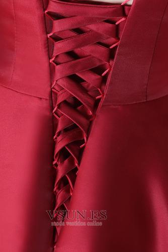 Vestido de fiesta Cordón Escote en V Invierno Sin mangas Asimétrico Dobladillo - Página 6