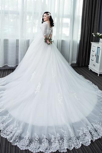 Vestido de novia Capa de encaje Apliques La mitad de manga Cordón Formal - Página 2