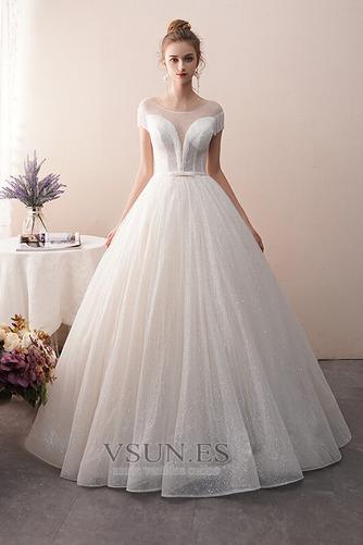 Vestido de novia Colores Sin mangas Estrellado Otoño Corte-A Hasta el suelo - Página 1