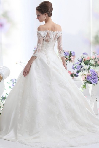 Vestido de novia Clasicos Cordón Mangas Illusion Sala Escote con Hombros caídos - Página 2