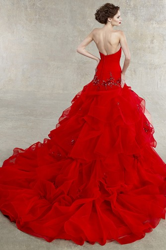 Vestido de novia Espectaculares Organza Invierno Corte-A largo Cristal - Página 2