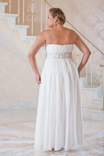 Vestido de novia Verano Plisado largo Cremallera Gasa Escote Corazón - Página 2
