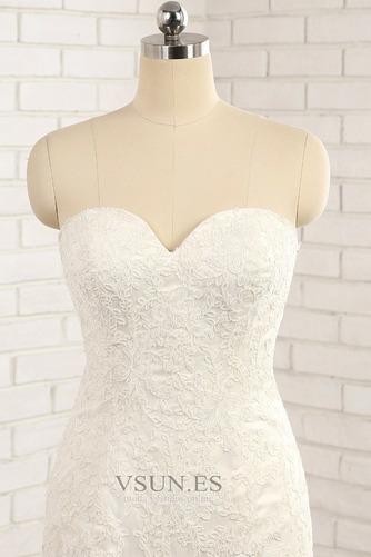 Vestido de novia Natural Apliques Capa de encaje Invierno tul Moderno - Página 5