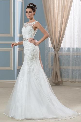 Vestido de novia Corte Recto Satén Arco Acentuado Cristal Espalda Descubierta - Página 3