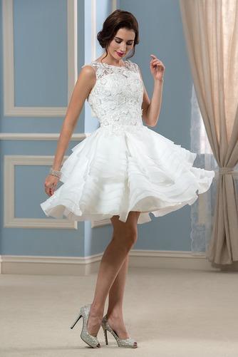 Vestido de novia Informal Verano Corte-A Oscilación Pura espalda Organza - Página 1