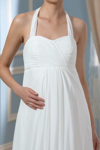 Vestido de novia Sin mangas Hasta el suelo Tallas grandes Drapeado Blusa plisada - Página 5