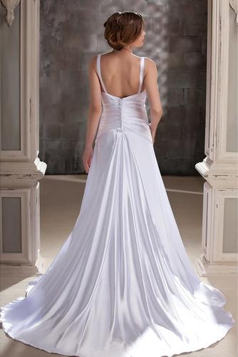 Vestido de novia Satén Hasta el suelo Dobladillos Espalda Descubierta - Página 3