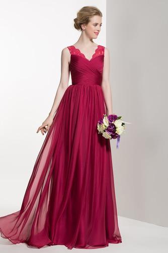 Vestido de dama de honor Verano Apliques Manzana Gasa Cola Barriba Elegante - Página 4