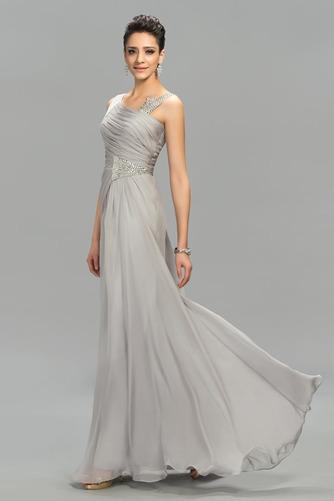 Vestido de noche Elegante Escote Asimètrico Natural Dobladillos Corte-A - Página 3