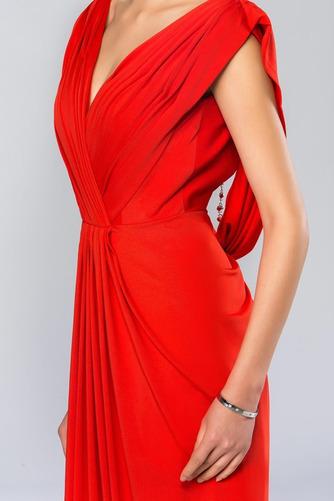 Vestido de noche Espalda Descubierta Blusa plisada Corte-A Elegante - Página 7