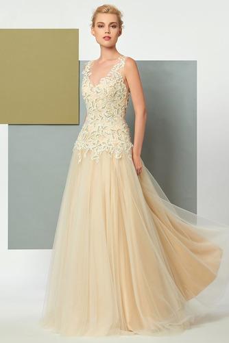 Vestido de noche Elegante Corte-A Natural Hasta el suelo Espalda Descubierta - Página 4