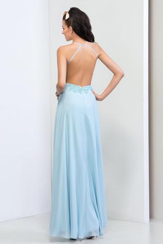 Vestido de fiesta primavera Dobladillos Natural Gasa Espalda Descubierta - Página 2