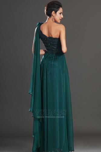 Vestido de noche Elegante Encaje Un sólo hombro Rosetón Acentuado Espalda medio descubierto - Página 6