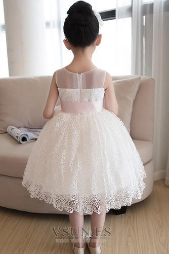 Vestido niña ceremonia Verano Fajas Encaje Natural Sin mangas Corte-A - Página 2